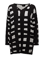 NEONILA Knitted tunic - BLACK, OFF WHITE