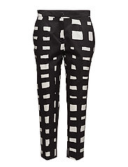 MARTHA HARSO Trousers - OFF-WHITE, BLACK