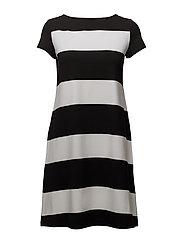 SITRIINI HUSINA Dress - WHITE, BLACK