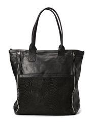 Henriette Work Bag - Black snake