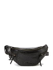 Malou Bum Bag, Croco - Black
