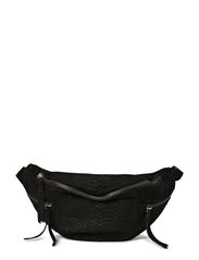 Malou Bum Bag, Snake - Black