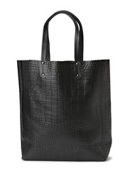 Fay Shopper, Croco - Black