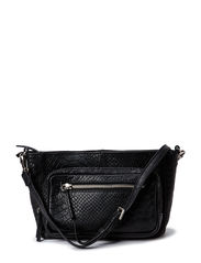 Nadia Crossbody Bag, Snake - Black