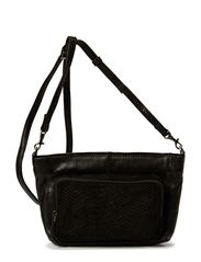 Nadia Crossvody Bag, Snake - Black