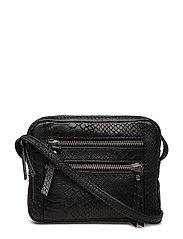 Kayser Crossbody Bag, Snake - BLACK