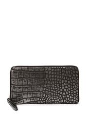 Grith Wallet, Metallic Croco - Silver