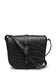 Marikka Crossbody Bag, Croco - BLACK