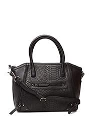 Christina Small Bag, Snake - BLACK