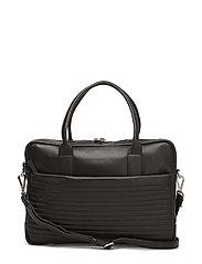 Ash Laptop Bag, Biker Quilt - BLACK