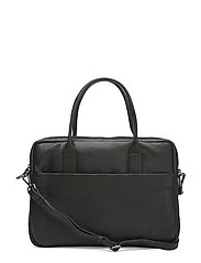 Ash Laptop Bag, Grain - BLACK