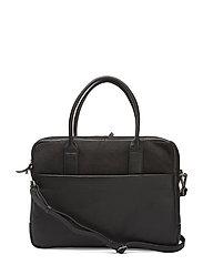 Ash Laptop Bag, Nubuck - BLACK