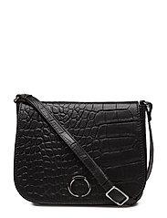 Fallula Crossbody Bag, Croco - BLACK