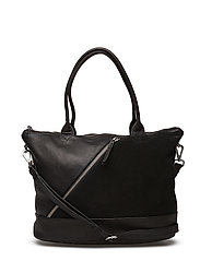 Zola Bag, Suede - BLACK