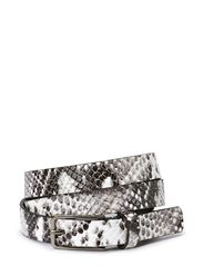 Celia Belt, Snake Print - Black/White