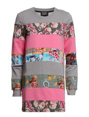 Knitted Sweatdress DR552 - GREY/MULTI/PINK