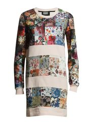 FLORAL PATCHWORK DRESS - CANDY/FLORAL