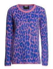 Knitted jumper KNWEG004 - PINK/BLUE