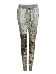 FLORAL PATCHWORK JOGGERS - GREY/FLORAL
