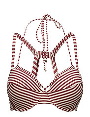MD HOLI VINTAGE PADD PUSH UP. BIKINI TOP - RED ECRU