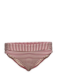 MD HOLI VINTAGE FOLD DOWN BRIEFS - RED ECRU
