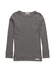 Plain Tee LS - Grey Melange