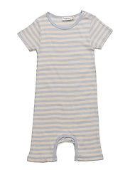 SUMMER ROMPY - PALE BLUE/OFF WHITE