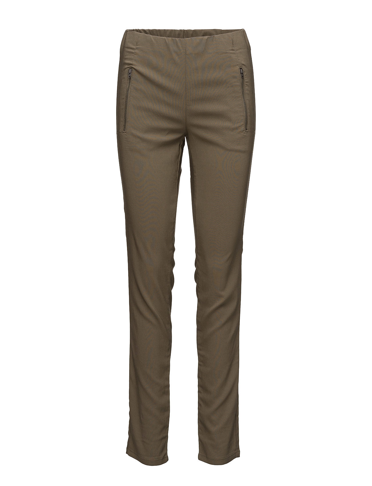 Pearl Trousers Ew Basic Masai Bukser til Kvinder i Oliven