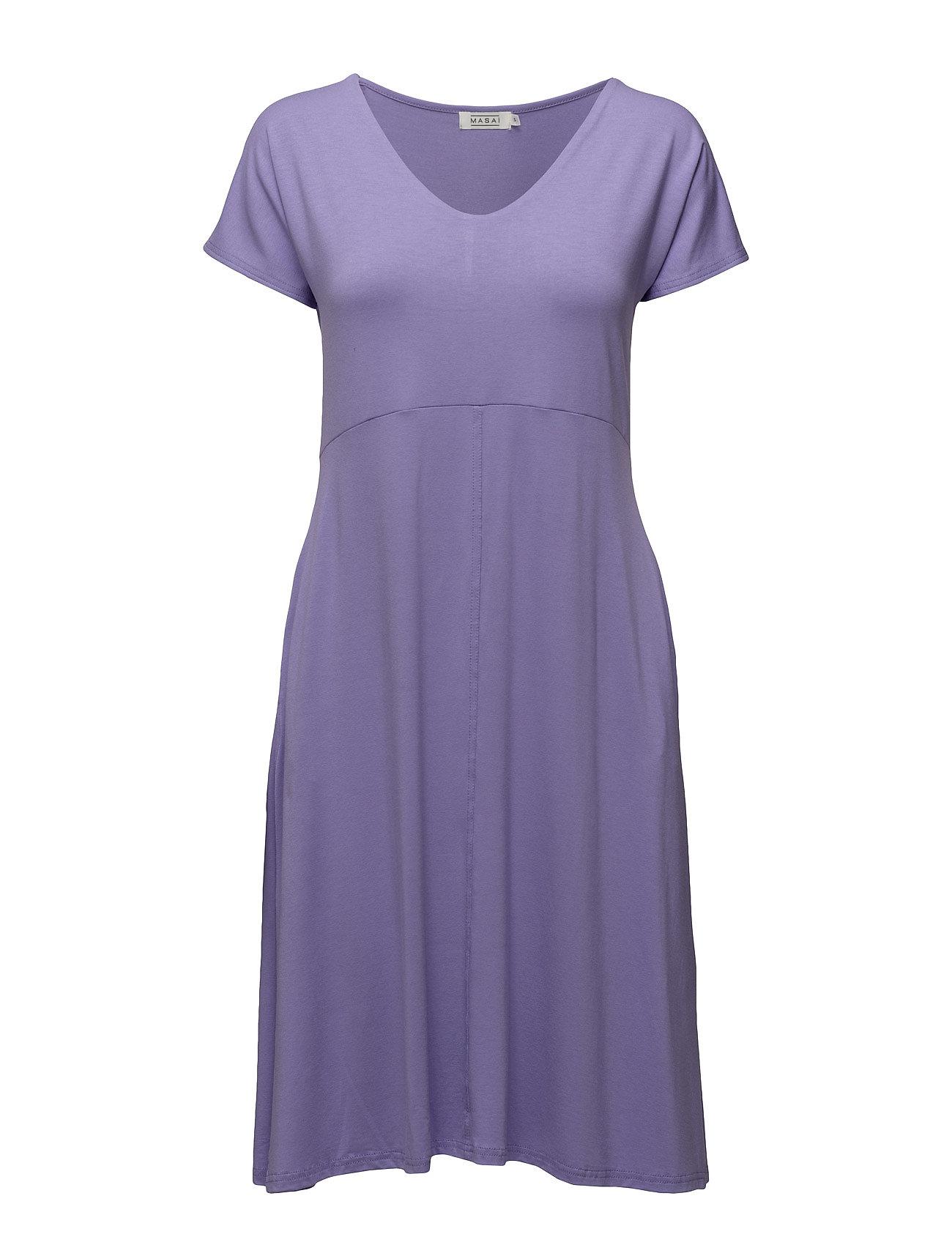 Nemy Dress Shaped Sh Slv Masai Knælange & mellemlange til Damer i Iris