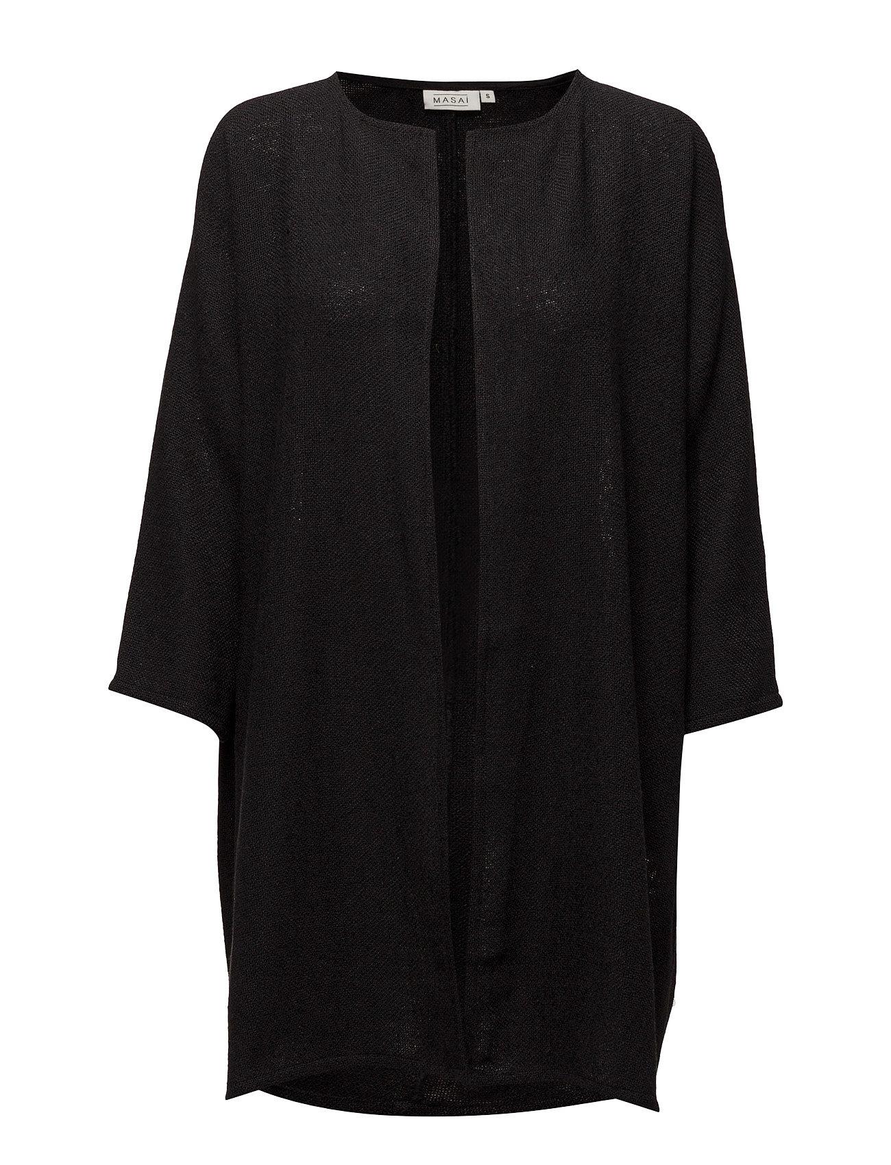 Jarmis Jacket Straight 3/4 Slv Masai Cardigans til Damer i Sort