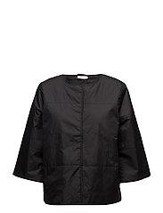 Tessa coat A-shape - BLACK