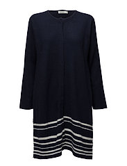 Lagina cardigan A-shape - NAVY-CREAM