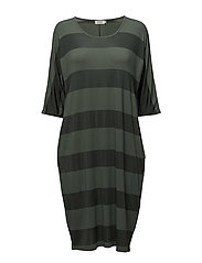 Nabita dress straight 1/2 s PA - RESEDAGREEN
