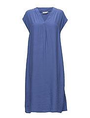 Omega dress A-shape no slv - BLUE