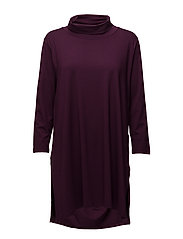 Gracilla tunic a-shape 3/4 slv - BURGUNDY