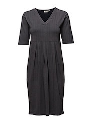Neb dress tulip 1/2 slv - NAVY ORG