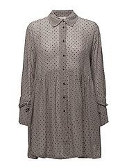 Ingrid blouse fitted long slv - DOVE ORG
