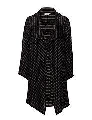Josefa jacket a-shape long slv - BLACK ORG