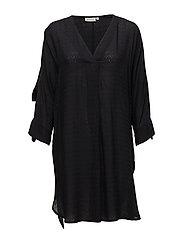 Ninon dress oversize 3/4 slv - BLACK