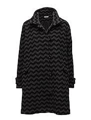Tenna coat A-shape - STONE ORG
