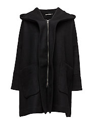 Tura coat oversize - BLACK-BURGUNDY ORG