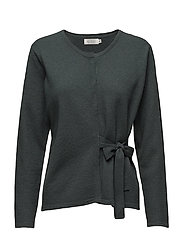 Lempi cardigan fitted long slv - EMERALD