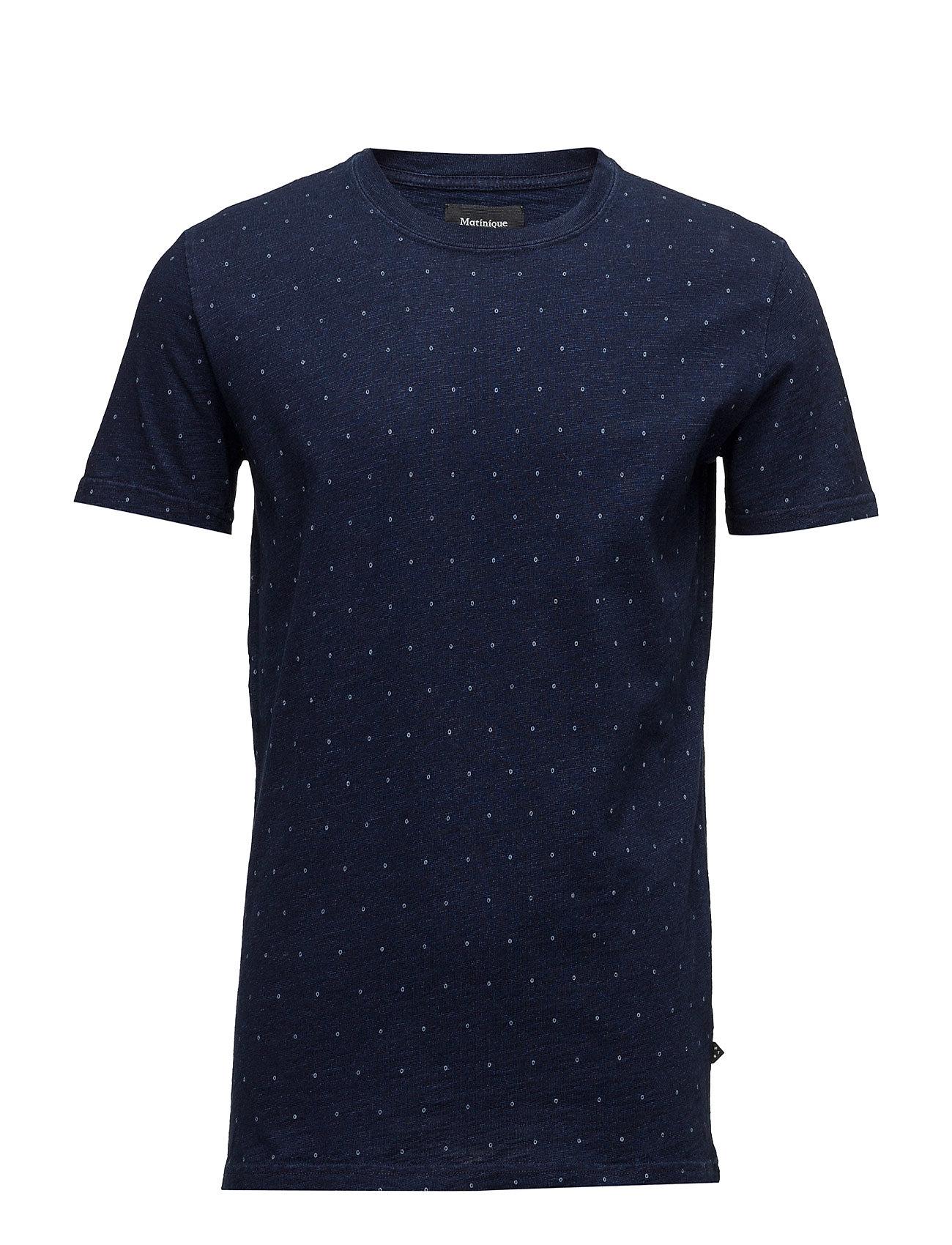 Clive Indego Print Matinique T-shirts til Mænd i Mørk Denim