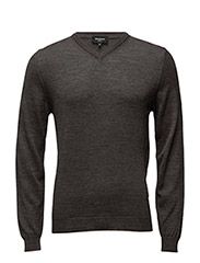 Mathew Knit Pullover - DARK GREY MELANGE
