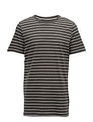 Gerry urban single jersey stripe - COLD MOSS