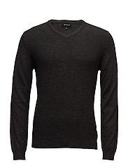 Mathew Knit pullover - DRK GREY MELANGE
