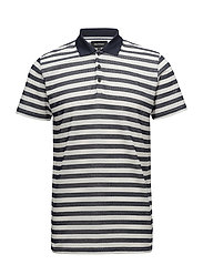 Brolo H Striped Polo - NAVY BLAZER