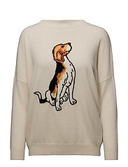 DOMANI - BEIGE WITH WHITE AND WHITE OCHER  DOG