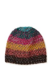 Tight knitted multi hat - Multi colored or HEAVILY patterned, please avoid unless completely impossible to pick one of the oth