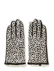 Leather glove w dot - Blacks